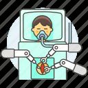 3, ai, arm, male, medical, operation, robot, surgeon, surgery icon