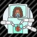 ai, arm, female, medical, operation, robot, surgeon, surgery icon