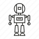 android, artificial intelligence, character, cyborg, humanoid, robot, toy icon