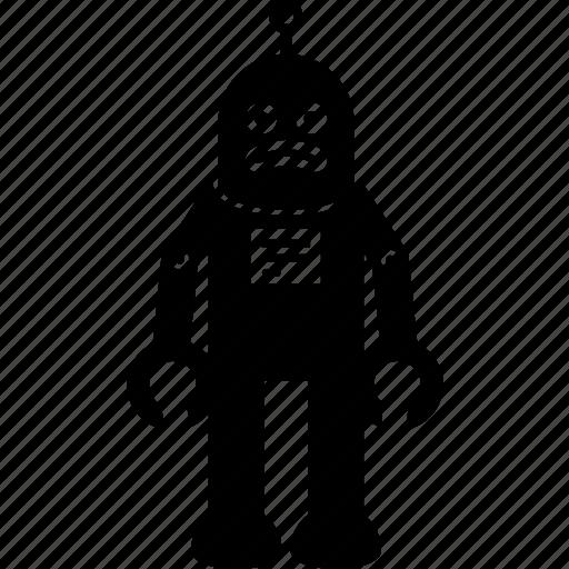 robot, sad, unhappy icon