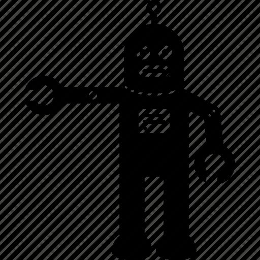 body, hand, robot icon