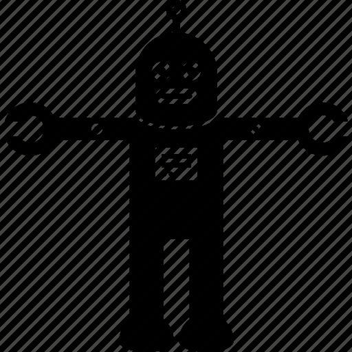character, retro, robot icon