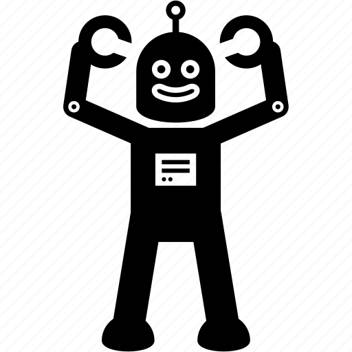 power, powerful, robot, strong icon