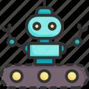 android, cyborg, future, futuristic, intelligence, robot, technology icon