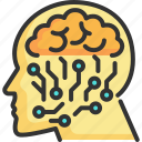 brain, digital, future, futuristic, intelligence, robot, technology icon