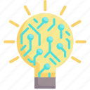 concept, creative, energy, idea, innovation, intelligence, lightbulb icon