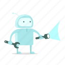 construction, repair, robot, search, sticer, support, tool icon