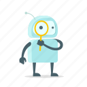 android, look, robot, color, set, eye icon