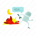 alarm, alert, android, crash, error, robot, run icon