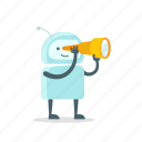 android, find, look, robot, spyglass, sticer, telescope icon