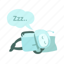 automation, bed, night mode, robot, sleep, sticer icon