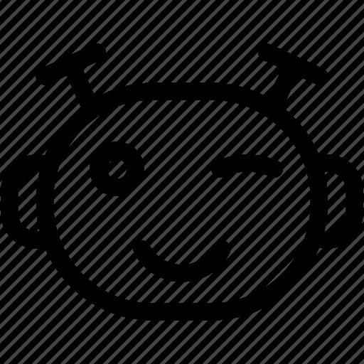 wink, winking, winking emoji, winking emoticon icon