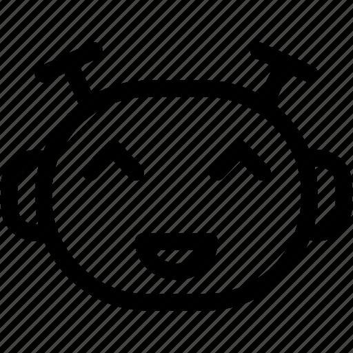 emoticon, happy emoji, laugh, smile icon