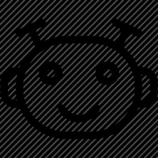 happy, happy emoji, happy emoticon, happy robot, smile icon