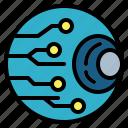 cyber, eye, iris, retinal, scan icon