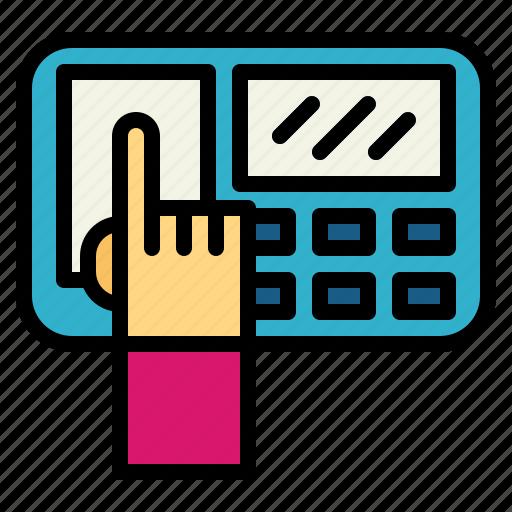 finger, fingerprint, print, scanner icon