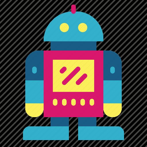 metal, robot, technology, toy icon