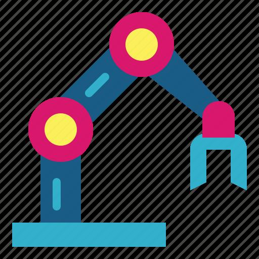 arm, electronics, industrial, mechanical, robotic icon