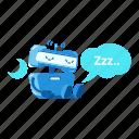 robot, sleep, hibernation, night, waiting