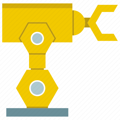 cnc, industrial, machine, manufacture, production, robot, robotic hand icon