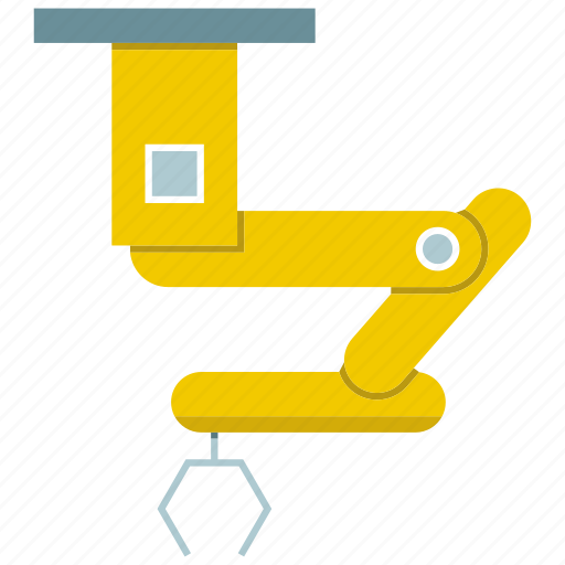 automate, industrial, machine, manufacture, mechanical, robot, robotic hand icon
