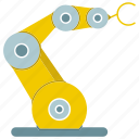 auto, automate, cnc, mechanical, production, robot, robotic hand icon