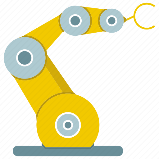 auto, automate, cnc, mechanical, production, robot, robotic hand icon