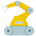 automate, control, machine, manufacture, rescue robot, robot, robotic hand icon