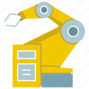cnc, industrial, industry, machine, manufacture, production, robot icon