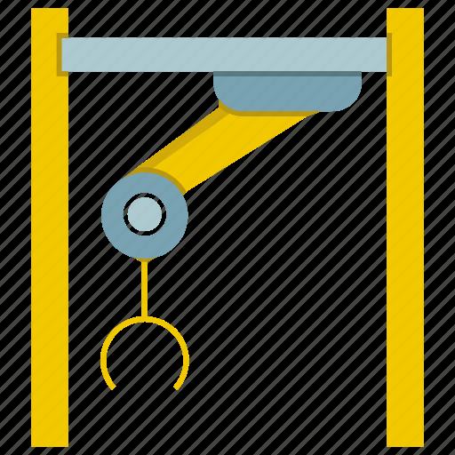 automate, crane, machine, manufacture, production, robot, robotic hand icon