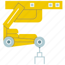 automate, cnc, industry, machine, manufacture, robot, robotic hand icon