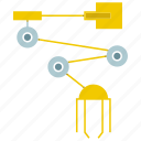 automate, machine, manufacture, production, robot, robot arm, robotic hand icon