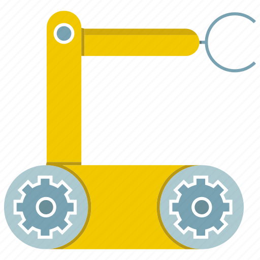 automate, industrial, machine, manufacture, rescue robot, robot, robotic hand icon