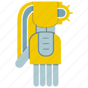 automate, machine, manufacture, mechanical, robot, robotic arm, robotic hand icon