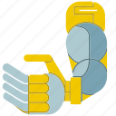 automate, machine, manufacture, mechanical, robot, robot arm, robotic hand icon
