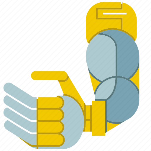 automate, machine, manufacture, mechanical, robot, robot arm, robotic hand icon