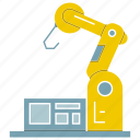 auto, automate, industrial, machine, manufacture, robot, robotic hand icon