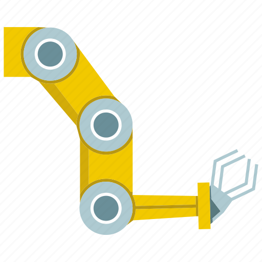 arm, automate, machine, manufacture, mechanical, robot, robotic hand icon