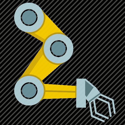 automate, hand, machine, mechanical, production, robot, robotic hand icon