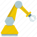 arm, machine, manufacture, mechanical, production, robot, robotic hand icon