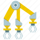 arm, industrial, manufacture, mechanical, production, robot, robotic hand icon