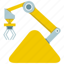 automate, machine, manufacture, production, rescue robot, robot, robotic hand icon