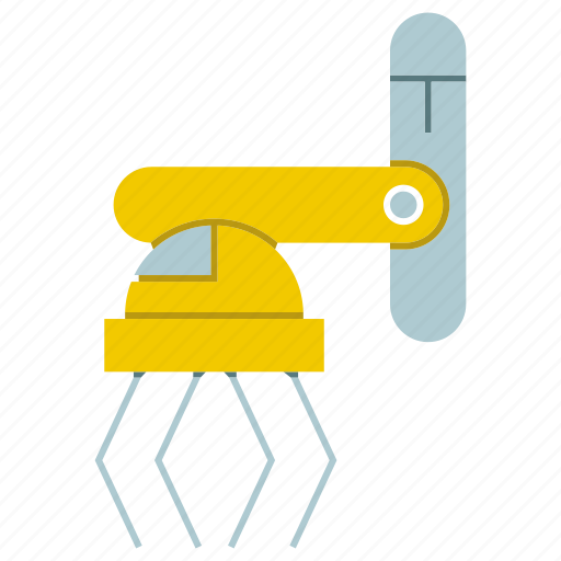 hand, industrial, manufacture, mechanical, production, robot, robotic hand icon