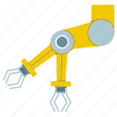 arm, automate, industrial, mechanical, production, robot, robotic hand icon