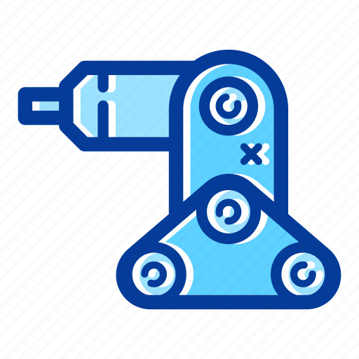 electronic, hand, machine, robot, robotic, robotic arm, technology icon