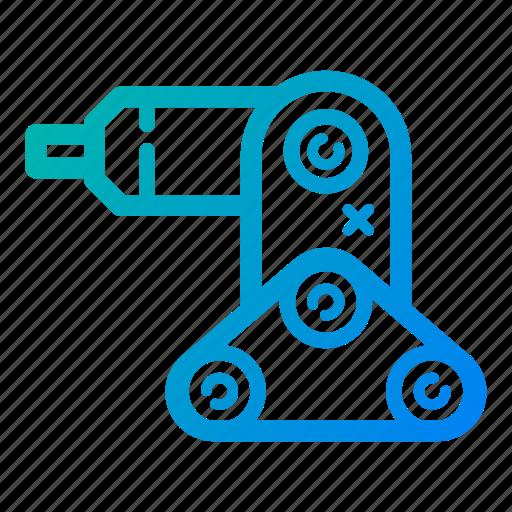 electronic, engineering, hand, robot, robotic, robotic arm, technology icon