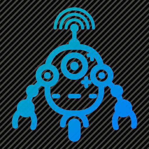 electronic, engineering, machine, robot, robot toy, robotic, technology icon