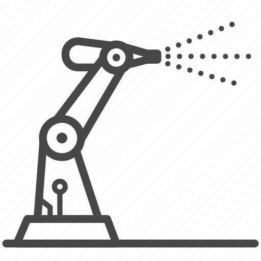 Factory, machine, manufactory, paint, robot, robotic icon - Download on Iconfinder