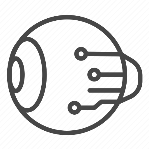 Artificial, automaton, eye, futuristic, robot, robotic icon - Download on Iconfinder