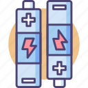 batteries, battery, power icon